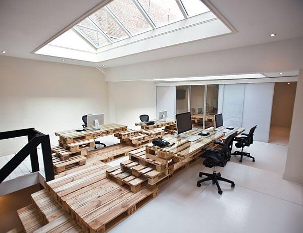 pallet office. Recycled-Pallet-Office-BrandBase-Amsterdam-1 Pallet Office U